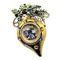 Beautiful Christmas Ornament Brooch
