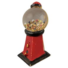 Darling Vintage Red Gumball Machine Brooch