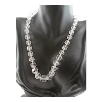 Spectacular Faceted Rock Crystal Necklace