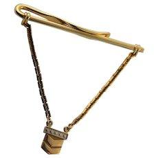 Vintage 14K Gold Five Star General Military Charm Tie Bar