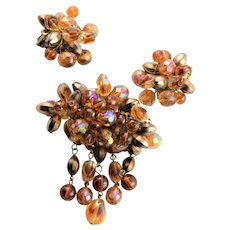 Amber Colored West German Wired Bead Set