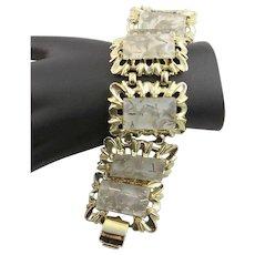 Beautiful Bold Lucite Gold Confetti Bracelet