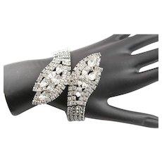 High Glamour Clear Rhinestone Bracelet