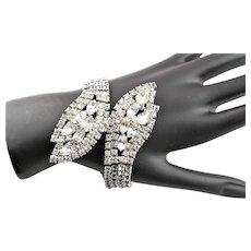Beautiful 1950's Clear Rhinestone Bracelet