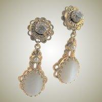 Outstanding West Germany Glam Dangle Earrings