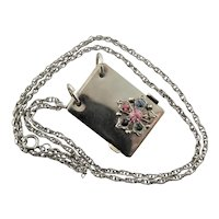 Fun Notebook Pendent Silver Plate Necklace