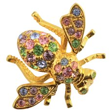 Joan Rivers Signed Multi Colored Bee Pin