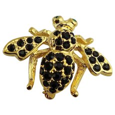 Stunning Joan Rivers Black Stone Bee