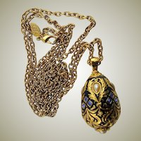 Spectacular Enamel & Jeweled Russian Egg by Joan Rivers