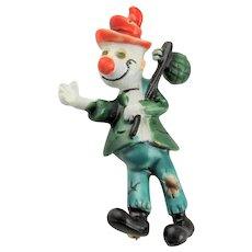 Darling Little Har Clown Brooch