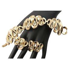 Beautiful Trifari Bracelet & Clip Earrings
