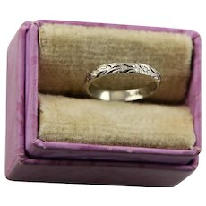 Darling Art Deco White Gold Baby Ring