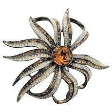 Beautiful Spider Flower KJL Brooch