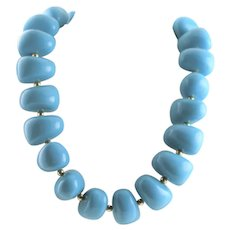 KJL Perfect Turquoise Resin Nugget Necklace