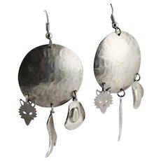 Fun Western Sterling Charm Earrings