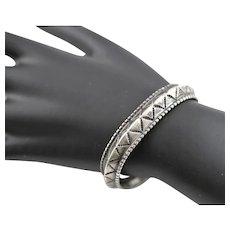Vintage Sterling Small Cuff Bracelet