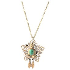 Fashion Pendent With Asian Theme Necklace