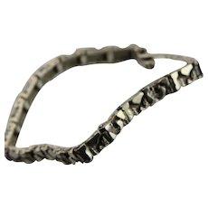Sterling Silver Textured Bracelet