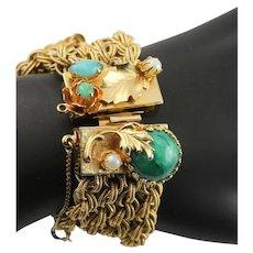 Multi Strand Chain Box Clasp Bracelet