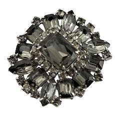 Beautiful Black Diamond Rhinestone Brooch