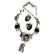 Stunningly Beautiful Renaissance Style Necklace & Earrings Set