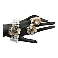 Unmarked Mariam Haskell Bracelet & Earrings