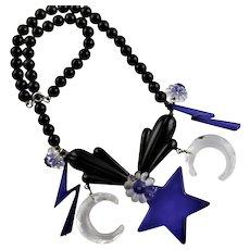 Spectacular Mod Lucite Necklace