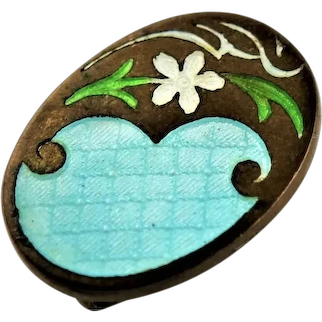 Antique Enamel Lingerie Pin
