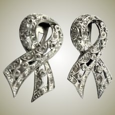 Clear Rhinestone Dress Clips