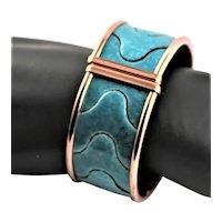 Signed Matisse Renoir Turquoise Enamel Bracelet