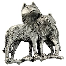 Vintage JJ Wolf Brooches