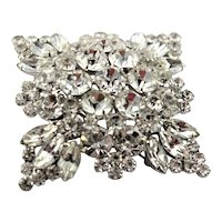 Intensely Sparkle X Large Crystal Rhinestone Brooch