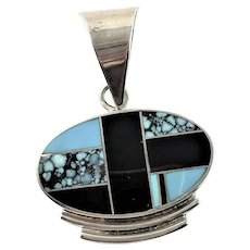 Navajo Ray Tracy Channel Inlay Pendent