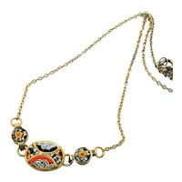 Beautiful Little Micro Mosaic Necklace