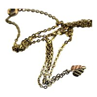 Pretty Black Hills Gold Leaf Necklace
