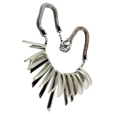 Pretty Modern Style Clear Lucite Necklace