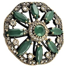 Magnificent Artisan Made Sterling Brooch