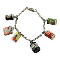 Magnificent Charm Bracelet With Six Advertising Charms