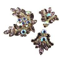 Spectacular Brooch & Earrings Juliana Set