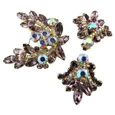 Spectacular Brooch & Earrings Juliana Set