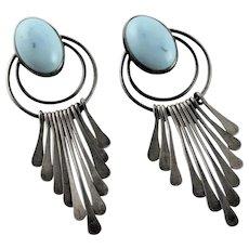 Signed Native American Handmade Earrings
