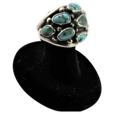 Vintage Zuni Turquoise & Sterling Ring
