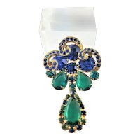 Outstanding Juliana Blue & Green Brooch