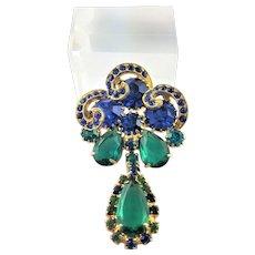 Outstanding Juliana Blue & Green Brooch