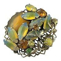 Fancy Opal Like Glass Brooch