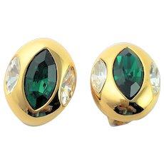 Marquise Crystal Button KJL Earrings