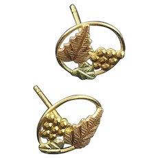 Black Hills Gold Tiny Post Earrings