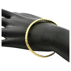 Beautiful 14K Yellow Gold Bangle Expandable Bracelet