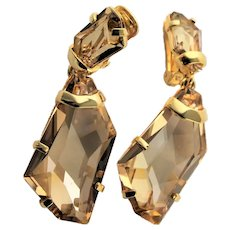 Exceptional KJL Large Crystal Earrings