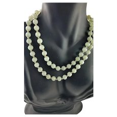 "Spectacular Jade/Jadeite & 14K Gold 29"" Long Necklace"